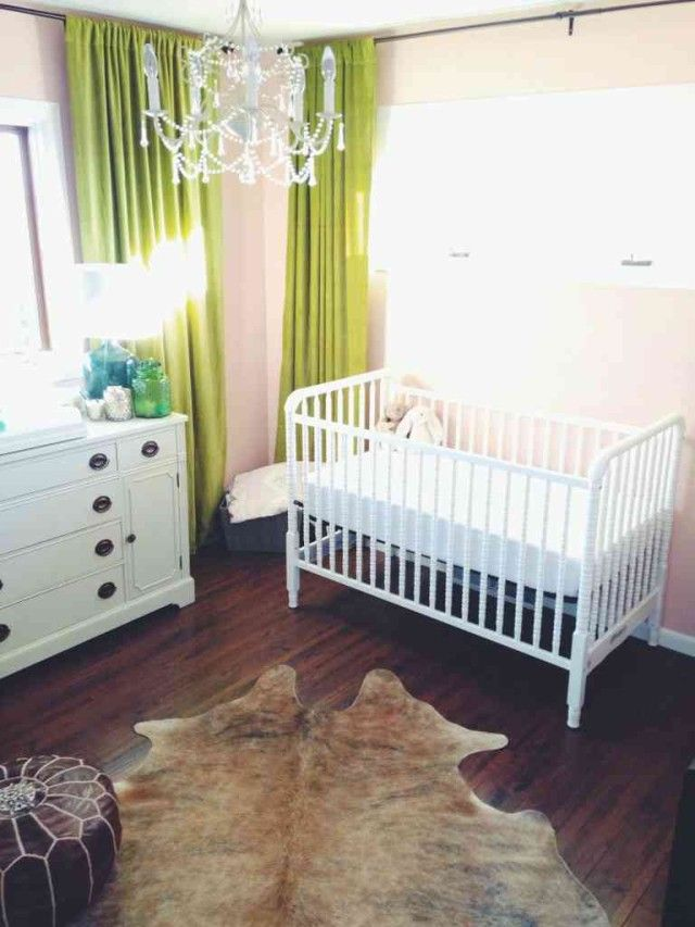 Country Inspired Nursery with Rustic Touches - love the elegant accents! #nursery: Kids Bedrooms, Convertible Cribs, Wyoming Inspiration Nurseries, Kid Bedrooms, Baby Baby, Limes Green Curtains, At Walmart, Projects Nurseries, Baby Rooms