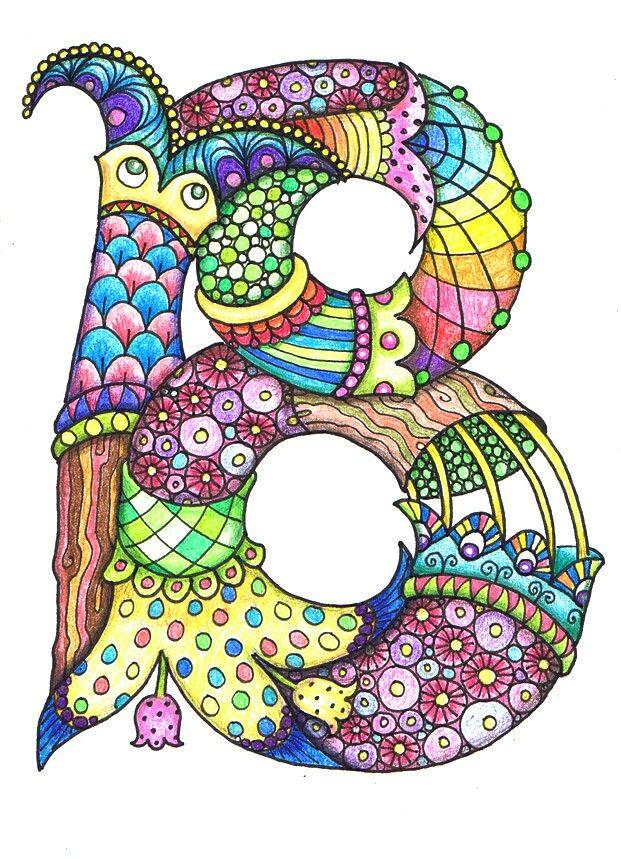 Colorful Zentagle Letters - B