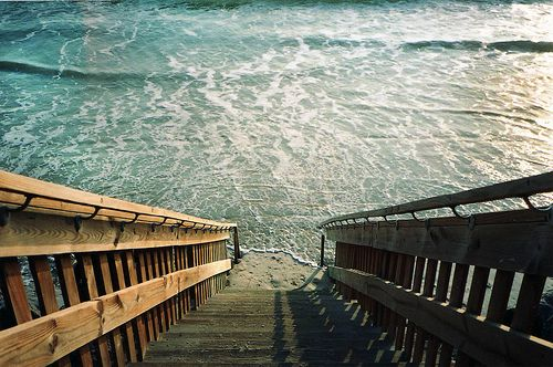 .: At The Beaches, Beaches House, Stairs, Back Doors, The Ocean, Backyard, Stairways, Back Yard, The Sea