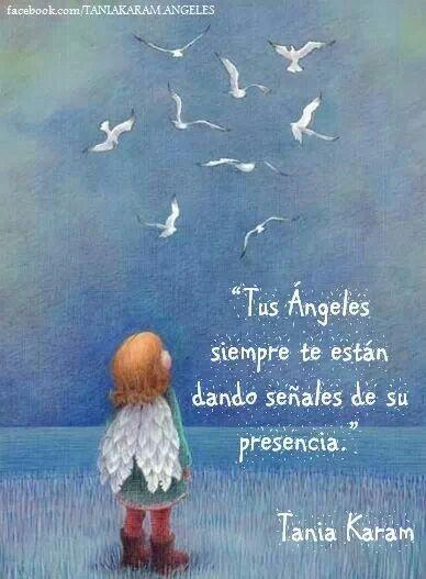 Mensaje de Nuestro Ángel de la Guarda...preciosísimo..>>> Your angels are always giving their signs