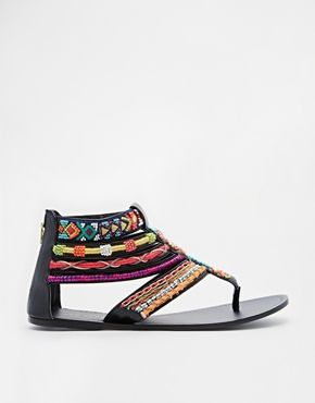 Enlarge New Look Fascinate Tribal Gladiator Flat Sandals