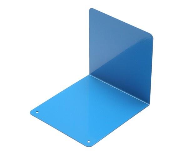 Jasper Morrison powder coated steel bookend in blue