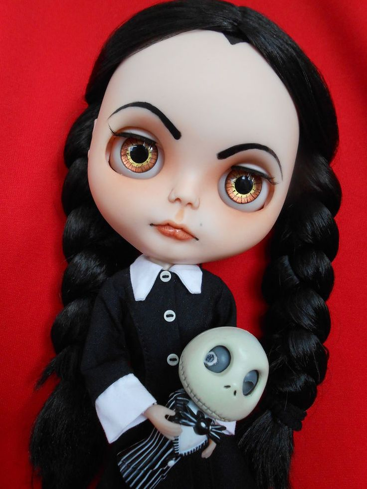 Custom Wednesday Addams Blythe Doll