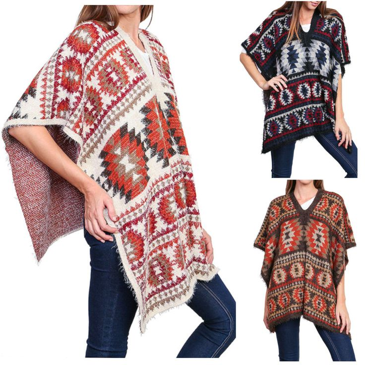 28 best MEXICAN PONCHOS images on Pinterest | Schals, Schnittmuster ...