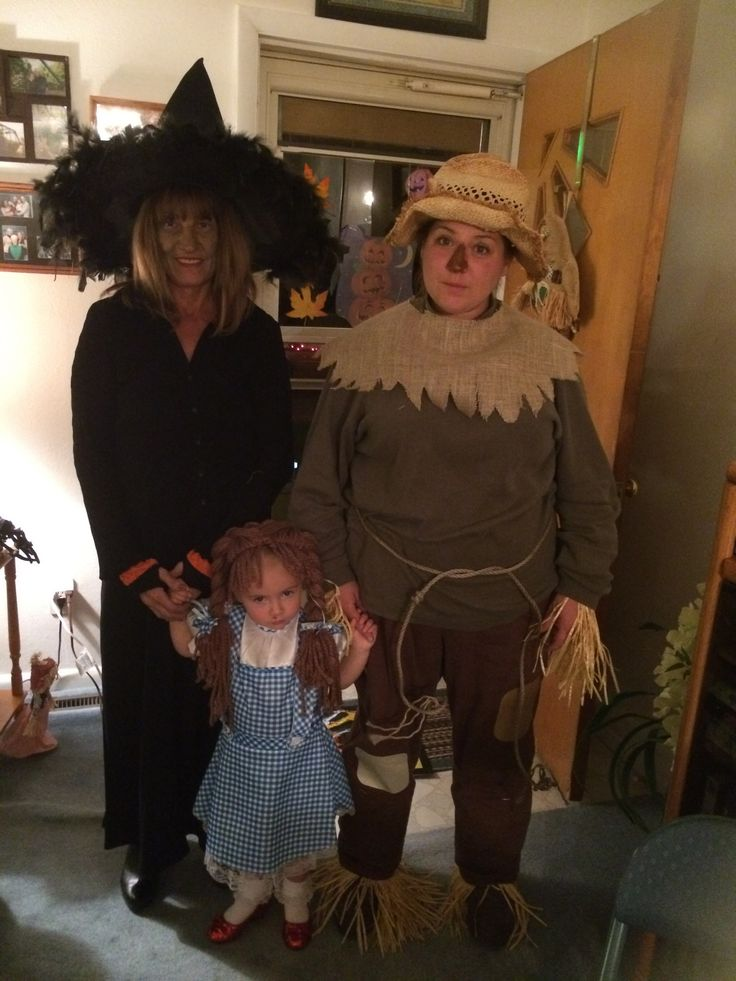 Mom, Kellyn and I as Wicked Witch, Dorothy and Scarecrow! 2013 Sorority Halloween Meeting!