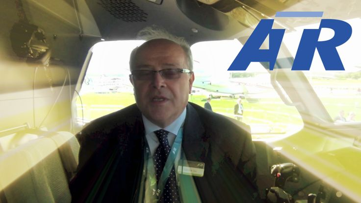 ATR 72-600 cockpit and cabin tour with an interview with mr. Carmine Orsi, vice president technical of ATR at Farnborough International Airshow 2012.