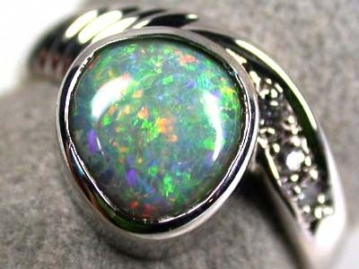 FANTASTIC SUNSET RED CRYSTAL OPAL 18K RING SIZE 6 SCA411 opal jewellery