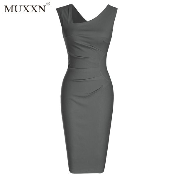 Image result for MUXXN Women's Retro 1950s Style Sleeveless Slim Business Pencil Dress
