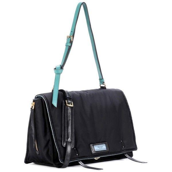 Prada Etiquette Messenger Bag ($1,835) ❤ liked on Polyvore featuring bags, messenger bags, white messenger bag, prada messenger bag, prada, prada bags and courier bag