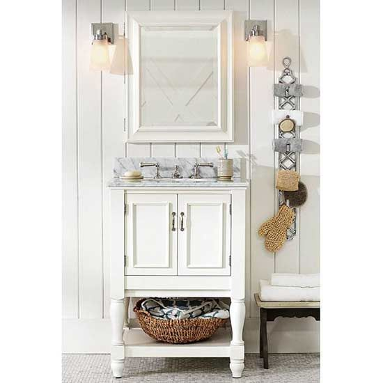 Small bathroom vanities for a pretty powder room small for Powder room vanities for small spaces