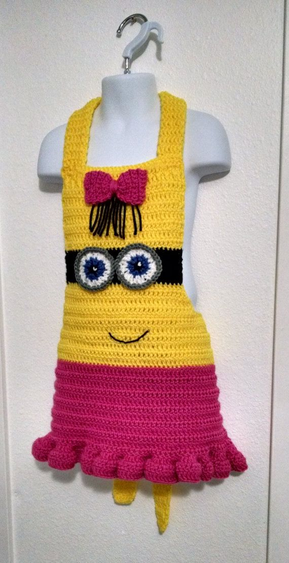 Girl Minion Inspired Children's Apron Instant by LuluBebeblu