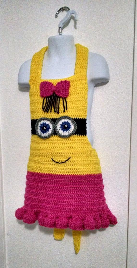 Girl Minion Inspired Children's Apron Instant by LuluBebeblu