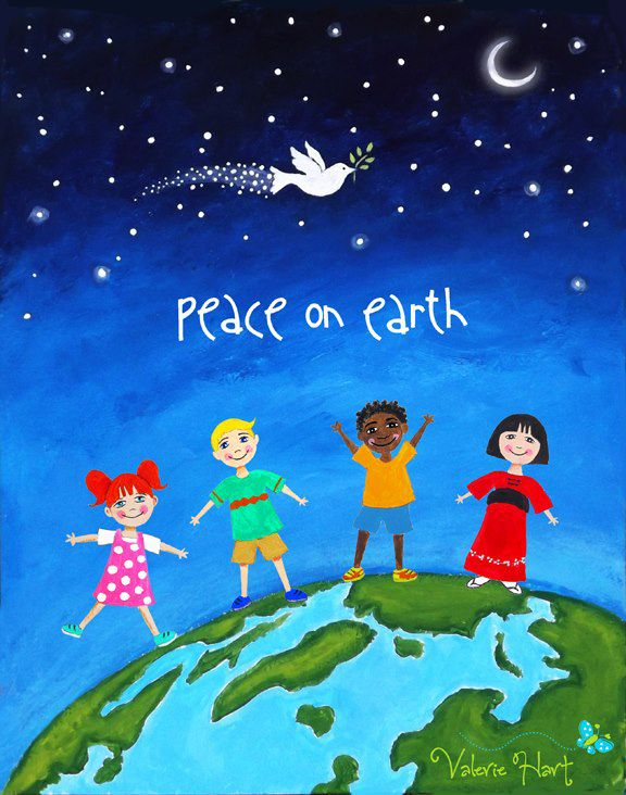 christmas picture art ideas - 25 best ideas about Peace on earth on Pinterest
