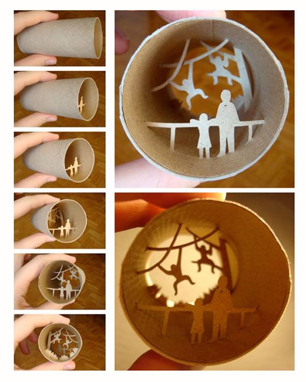 Tiny toilet paper roll scenes.....now I know what to do with all those in the trash can!!!!LOL