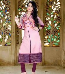 Buy Charming Violet Colored Cambric Cotton Kurti kurtas-and-kurti online