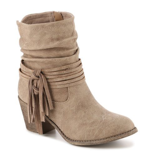 Jamine Fringe Bootie. Must have fringe boot for boho outfits this year! Pair this bootie with any outfit to get that complete look! #boho #gordmans #shoes