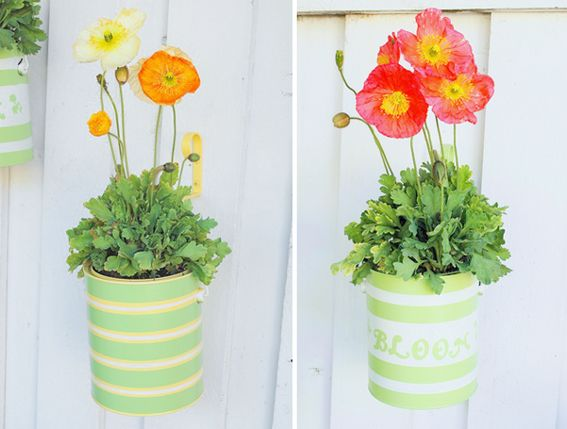 DIY Idea: Recycled Paint Can Planters!