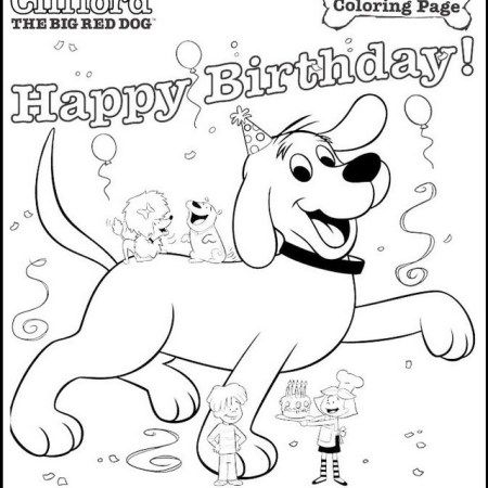 birthday games clifford the big red dog coloring and activity page