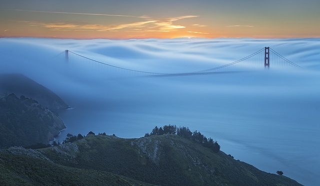 San Francisco shrouded by fog, by JaveFoto