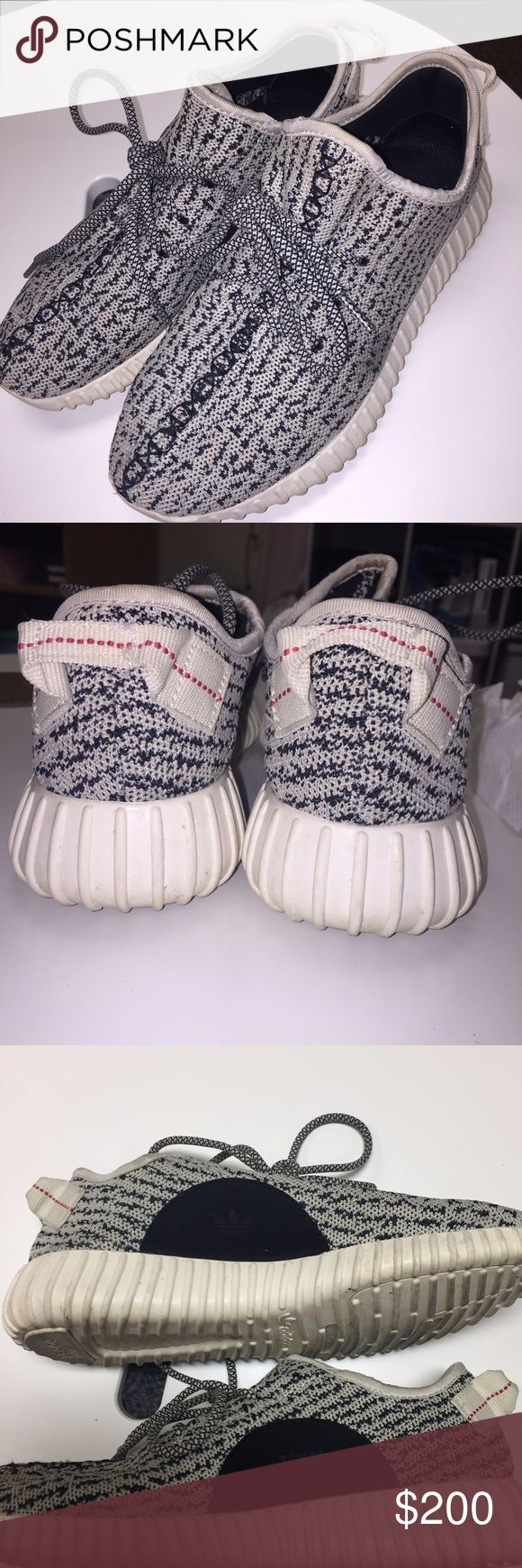 Yeezy Boost 350 •i have no clue if these are authentic or not, bought online didn't come with box.                   •i have checked multiple websites and everything these shoes have match up with the real ones.                                 •only sign of wear is on bottom for obvious reasons  •FOR SERIOUS INTERESTED BUYERS: comment your email and i will send more pics/ links to real vs fake yeezy websites. Yeezy Shoes Sneakers