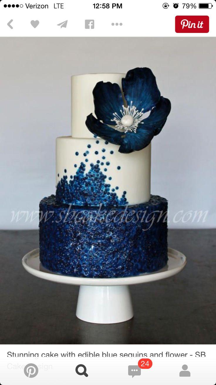 . #cake #blue #flower