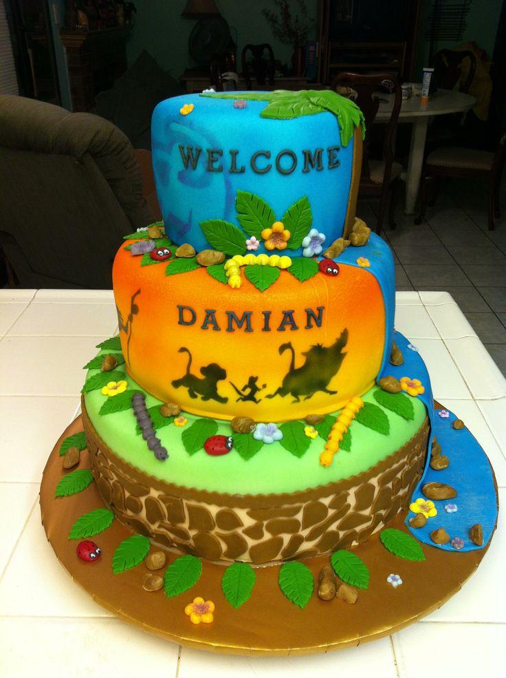 Lion King Cake Decoration Ideas : Lion king cake Cake ideas and stuff Pinterest Lion ...