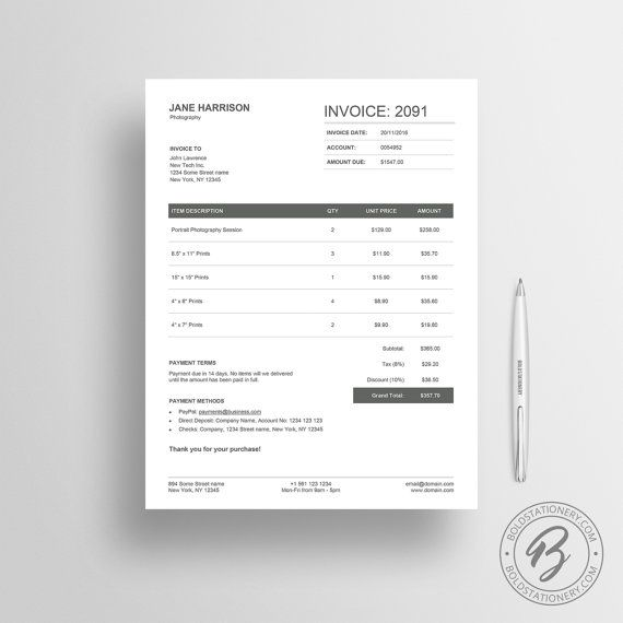 The 25+ best Microsoft word invoice template ideas on Pinterest - invoice examples in word