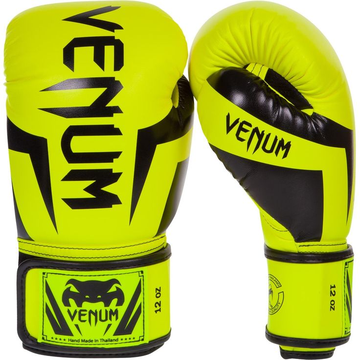 Venum Boxing/Muay Thai Gloves Elite - Neon Yellow/Black