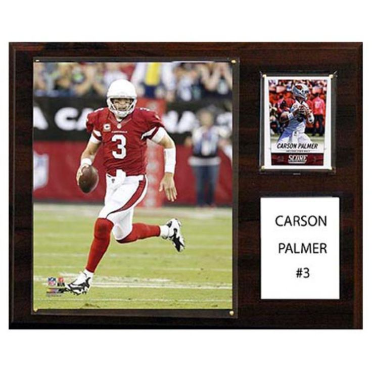C and I Collectables NFL 15W x 12H in. Carson Palmer Arizona Cardinals Player Plaque - 1215PALMERCARDS