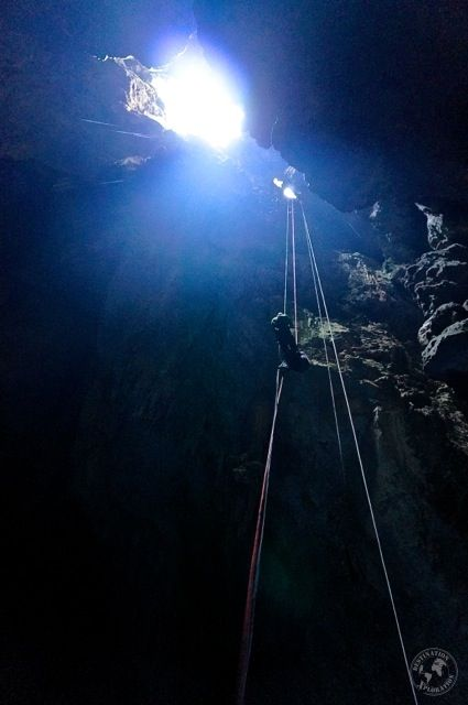 Rappling 72 out of the cave of #AbismoAnhumas #Bonito #Brasil