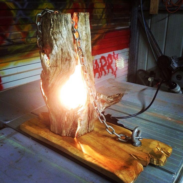 Hollow log lamp
