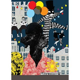 Elliot the Lion-tamer poster - multi - Studio Lisa Bengtsson