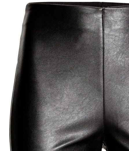 Leggings aus Lederimitat | Schwarz | Damen | H&M DE