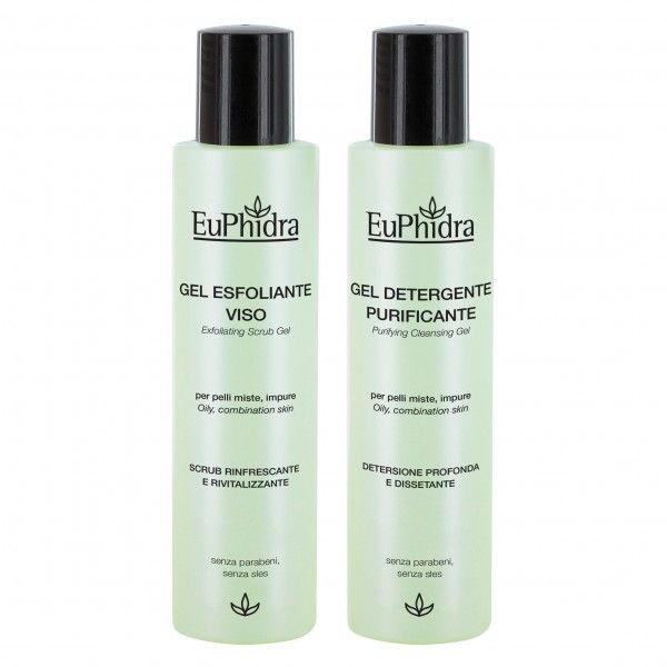 gel esfoliante viso Euphidra #detergneza #pellisensibili #euphidra
