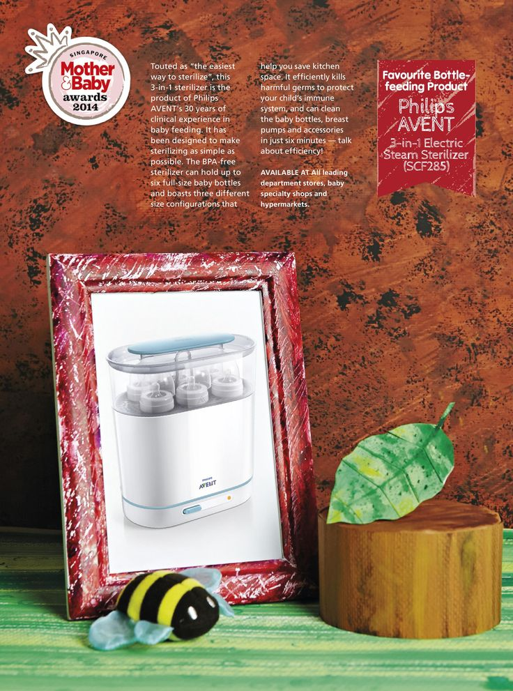 Favourite Bottle-feeding Product: Philips AVENT - 3-in-1 Electric Steam Sterilizer (SCF285)