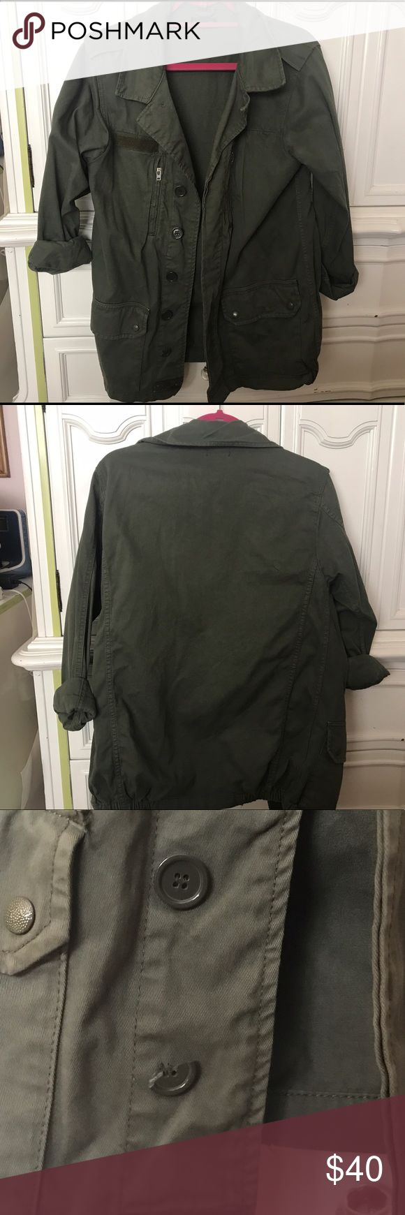 Topshop jacket Good Condition. Bottom button is chipped, but not very noticeable. Easily can replace. Topshop Jackets & Coats