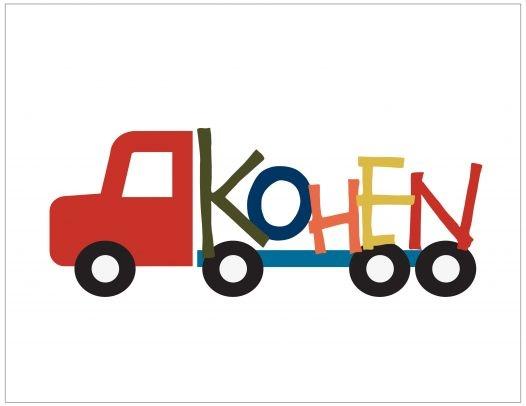Truck & Name wall art