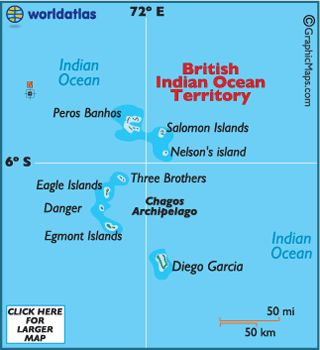 The British Indian Ocean Territory (B.I.O.T.) is a widespread archipelago of over 2,300 small islands, and is positioned in the Indian Ocean near the Equator, about 1,000 miles southwest of India....