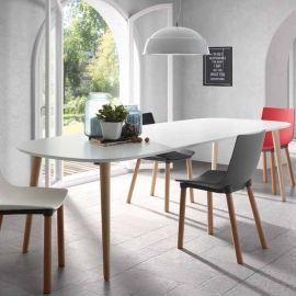 Wählen Sie Für Ihren Esszimmer Moderne Tische Mit Hochqualitativen  Materialen Und Kaufen Sie Auf Viadurini.de Den Verlängerbaren Holztisch Mit  Matt Weißer ...