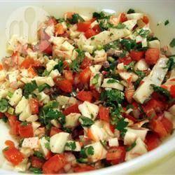 Ceviche de surimi ~~ Delicioso y fácil de preparar.
