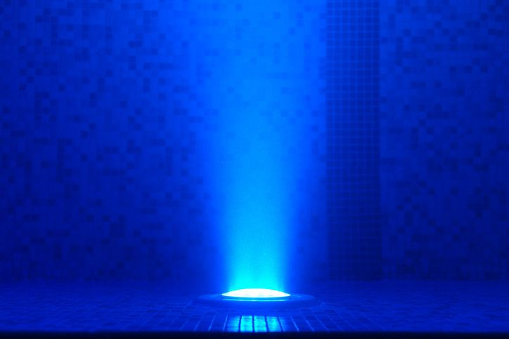 White LED pool lights are intensely bright | Swimming pool ...