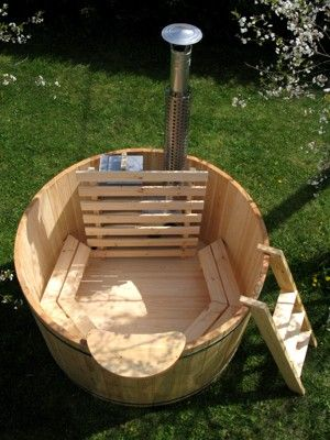 wood-fired hot tub