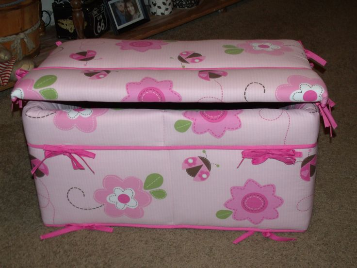 Toy Box I made for my daughter, using her crib bumper pads.