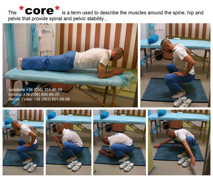 CORE - это всего лишь мой минимум, используемый для нормального функционирования мышц вокруг позвоночника, тазобедренного сустава и таза, которые обеспечивают стабильность позвоночника и таза...