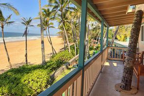 At  Ke Iki Beach Bungalows on Oahu's North Shore, some units are right on the beach.