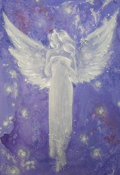 Limited angel art photo abstract angel painting von HenriettesART