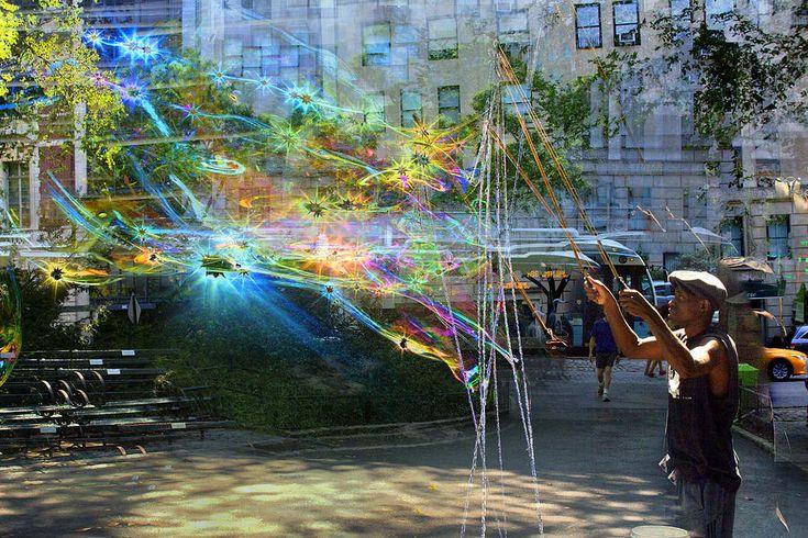 Dave Beckerman Photograph - Bubble Maker Collage 1 by Dave Beckerman