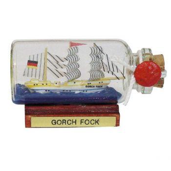 Maritmes Buddelschiff-Flaschenschiff der berühmten Gorch Fock als schöne Geschenkidee und für Sammler.   KEINE VERSANDKOSTEN INNERHALB DEUTSCHLANDS!!   Bei Bestellung 1 Stück= 1VE a 5 Stück