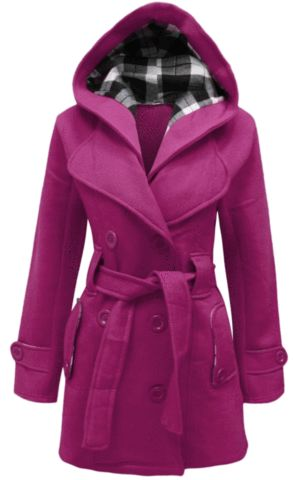 Double Breast Hooded Coat