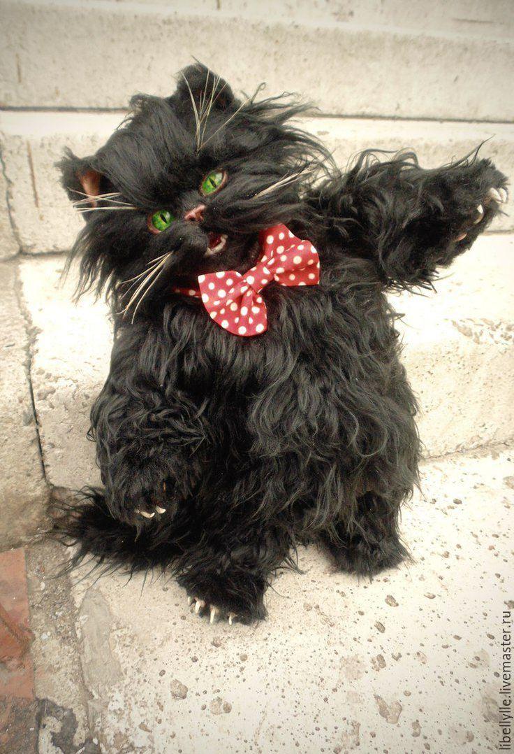 Купить Кот Бегемот - черный, кот, Кот Бегемот, коллекционная игрушка, Мастер и Маргарита, мистика